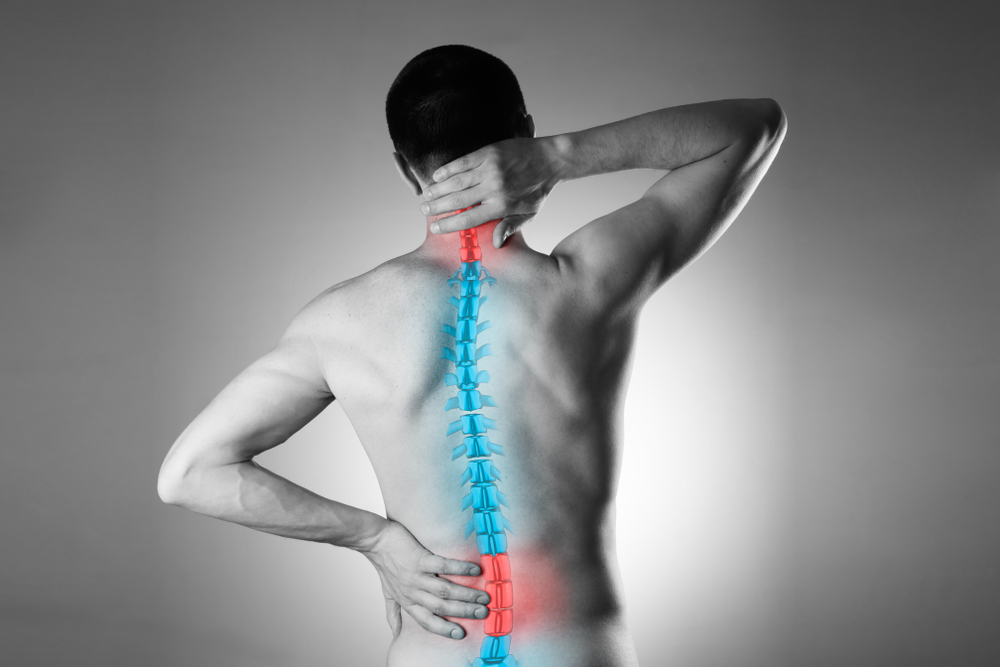 man with spine injury