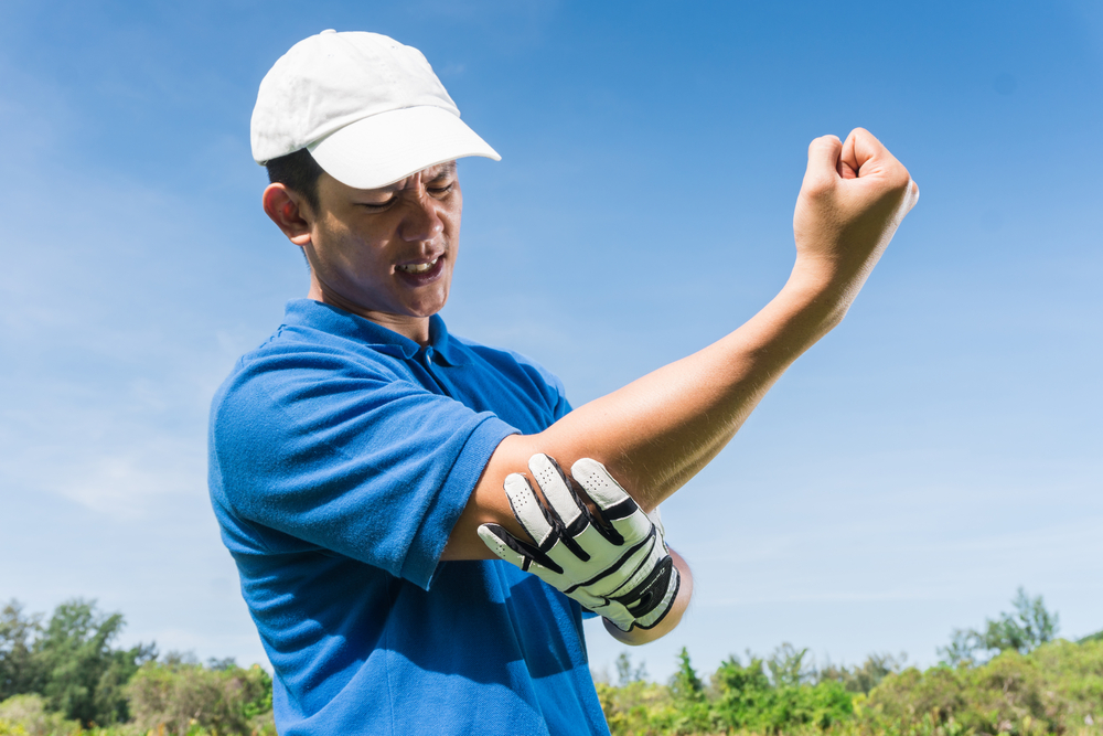 Golfer elbow pain during the game